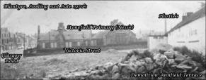 1977 Annfield Terrace Demolition. Shared by John Devine.