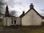 Auchentibber Farm House fire. Day after 9th Dec