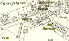 1910 Causeystanes .The Barracks
