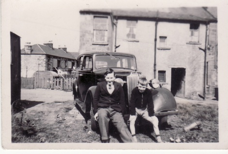1950s Bill and Alex Duncan at littles Building