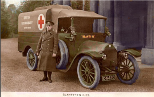 1915 Ambulance at Calderglen coloured by Andy Paterson
