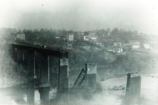 1963 Craighead Viaduct Demolition 19th Dec. Photo Anthony Smith