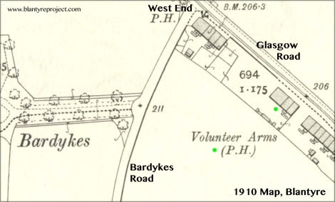 1910 Map volunteer arms