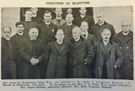 1929 Induction Rev J Clyde 17th April