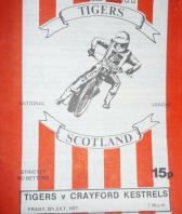 1977 First Blantyre Speedway programme