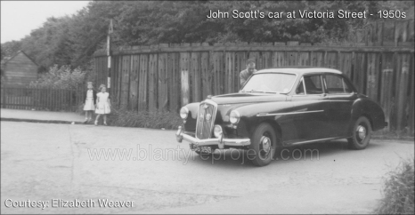 1950s John Scott and his car at Victoria Street