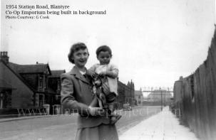 1954 Gordon Cook at Station Rd