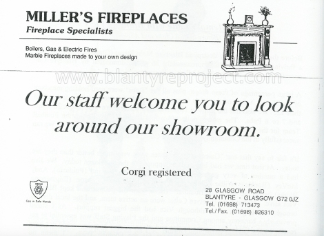 2004 Milers Fireplaces advert wm