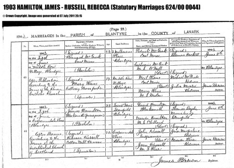 james-hamilton-marriage-to-rebecca-russell-1903