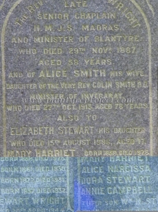 Rev Stewart Wright d1887