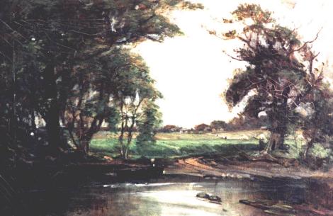 1900 Painting Uddingston Side Boatland