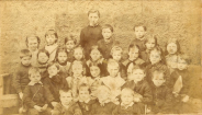 1880 Jen Brown far left at school, Uddingston