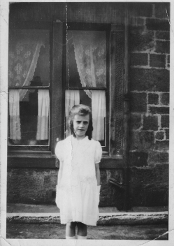1936 Barbara McCabe at Auchinraith Rd
