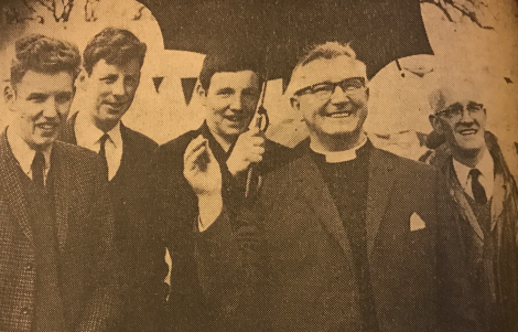 1967 Rev Donald Caskie at Crossbasket