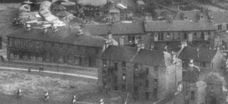 1950 Hendersons Buildings aerial