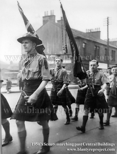 1950s Scouts at Central Buildings wm