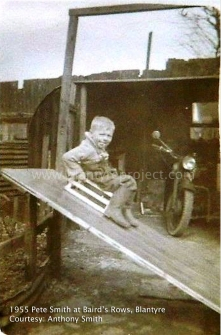 1955 Pete Smith at Bairds Rows