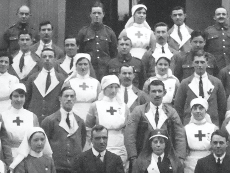 WW1 Caldergrove Hospital staff and patients