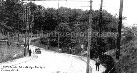 1920s Priory Bridge before realignment