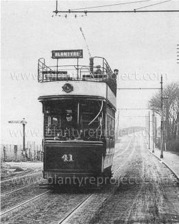 Late 1920s Blantyre Tram at Dalton